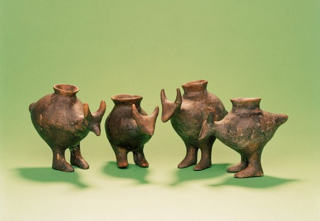 Late Bronze Age feeding vessels from Vosendorf, Austria. They're pretty adorable,