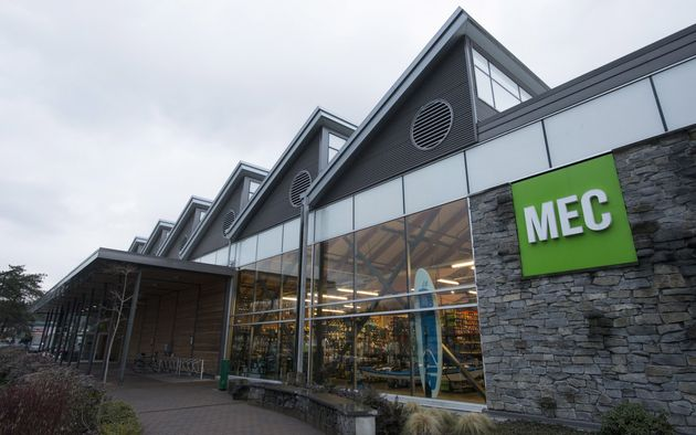 The outside of a Mountain Equipment Co-Op in North Vancouver, B.C., Mon. Dec. 9, 2017. MEC is among a...