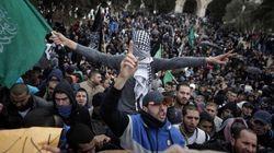 Jérusalem-Est: Des palestiniens manifestent contre Charlie