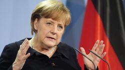 Merkel à une manifestation d'associations