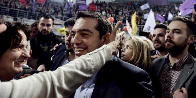 This photo taken on Tuesday, Jan. 20, 2015 shows Alexis Tsipras, 40, head of Greece's Syriza left wing...