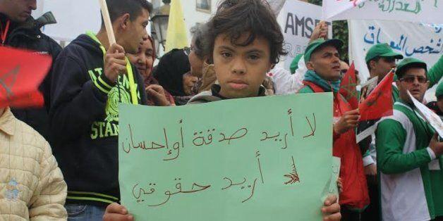 Rabat: Manifestation contre la marginalisation des handicapés