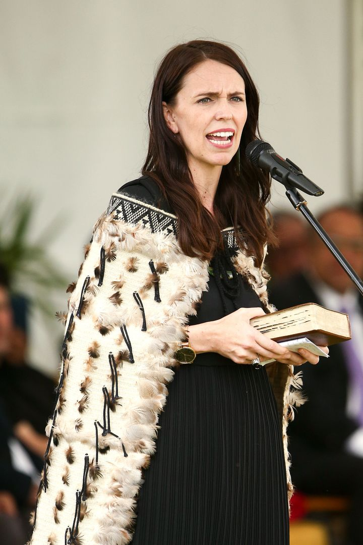 Ardern speaks at a church on Nov. 7, 2018, in Ratana, New Zealand.