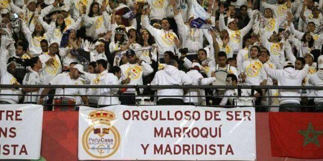 Les supporters de la Peña Casa Madridista lors de la finale de la Coupe du monde des clubs, le 20 décembre