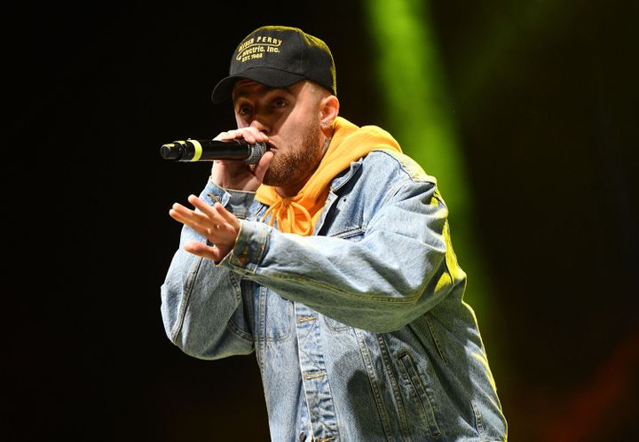 Rapper Mac Miller, seen performing in early 2018,died a year agoin his Los Angeles home of an accidental overdose of cocaine, alcohol and fentanyl.