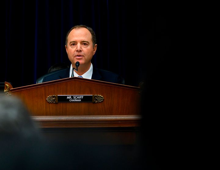 House Intelligence Committee Chairman Adam Schiff (D-Calif.) presides at the Thursday session where acting Director of Nation