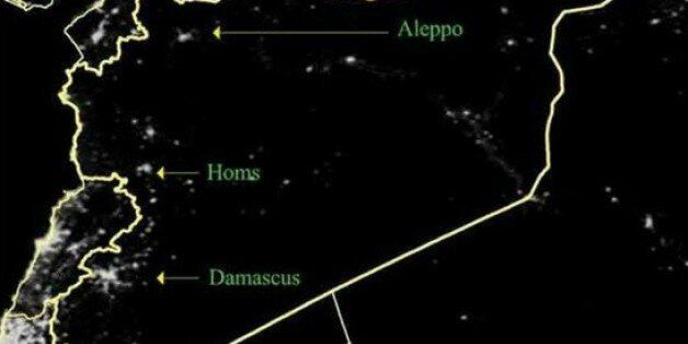 La guerre civile en Syrie vue de l'espace: L'éclairage nocturne a baissé de 74% en 3
