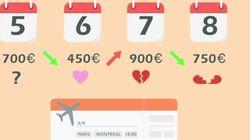 Un site repère le vol Casa-Paris le moins