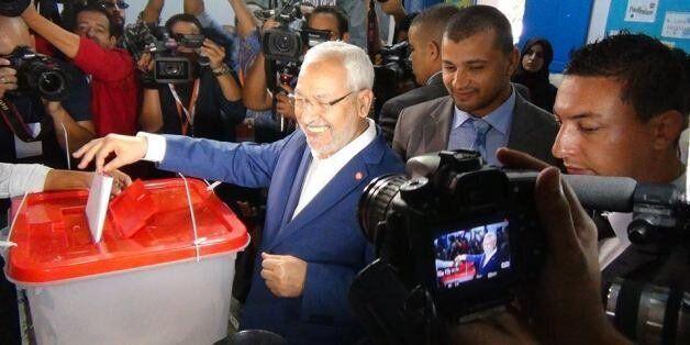 Rached Ghannouchi, président d'Ennahdha, vote le 26 octobre 2014 en