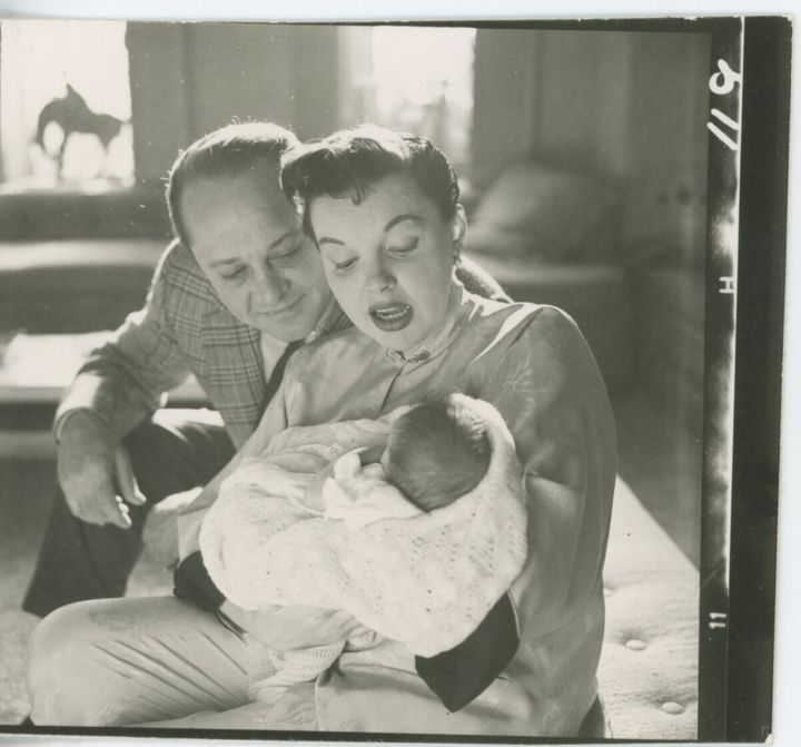 Luft (right) and Garland were married for 13 years and had two children, Lorna and Joey.