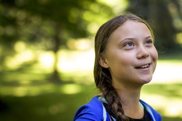 La activista climática Greta Thunberg, el pasado 8 de agosto en Ginebra, en un acto con el