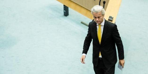 Le député néerlandais anti-Islam Geert Wilders dans la Chambre des Représentants à La Haye, le 18 septembre