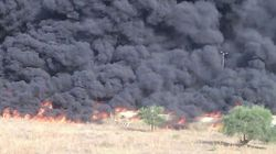 Alger a eu chaud: Un camion plein de gasoil en flammes