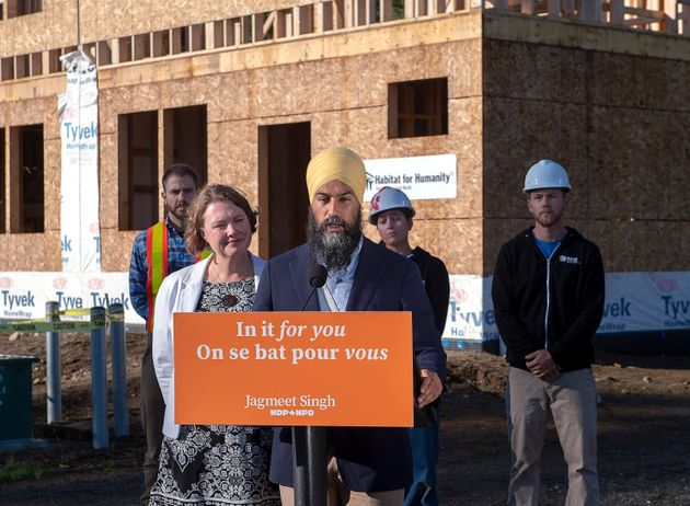 NDP Leader Jagmeet Singh makes a campaign stop with Rachel Blaney, NDP Candidate for North Island-Powell...