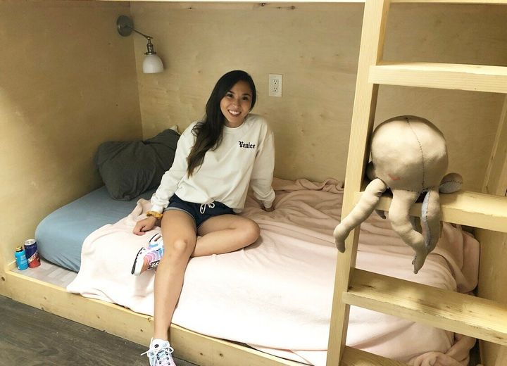 Ashley Shannon, 23, has been renting a bunk bed in a co-living space for most of 2019. The lifestyle is not for everyone, but
