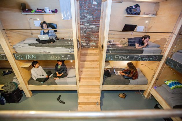 Bunk beds at one of PodShare's LA