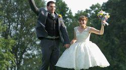 Photos de mariage et illusion d'optique font bon ménage