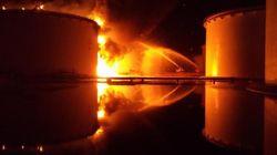 Libye: réservoirs de carburant en feu, des canadairs italiens