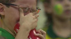 Cet enfant est devenu le symbole de la tristesse brésilienne