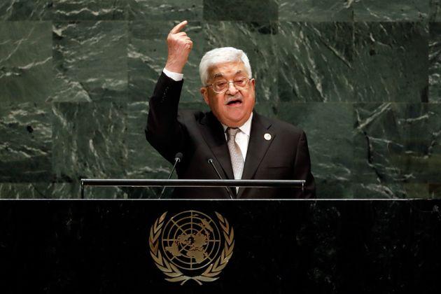 Ο Μαχμούντ Αμπας από το βήμα της ΓΣ του ΟΗΕ απειλεί με τερματισμό όλων των συμφωνιών με το