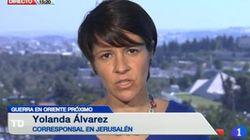 La journaliste de TVE Yolanda Alvarez attaquée par Israël, les journalistes espagnols