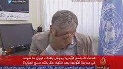 Un responsable de l'UNRWA en Palestine fond en larmes devant les Caméras d'Al