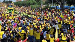 L'acceuil triomphal des Colombiens en