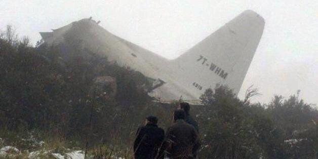 Une partie de la carlingue d'un Hercules C-130 qui s'est écrasé en Algérie, le 11 février 2014 (Image