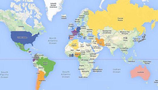 Le calendrier Google Map du