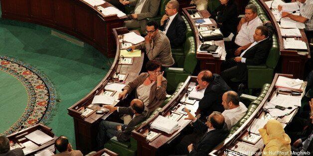 Les députés à l'Assemblée avant que la constitution ne soit