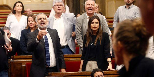 Bronca en el Parlament de