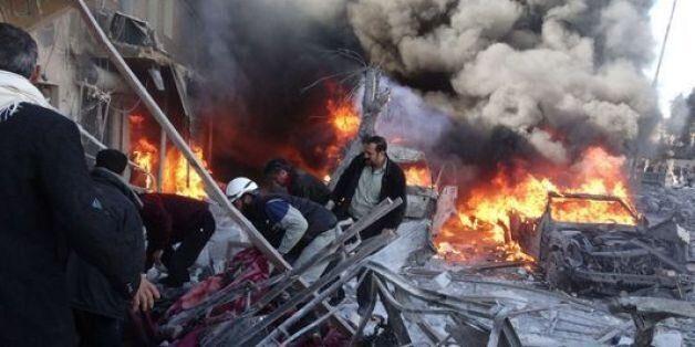 Bombardements meurtriers à Alep en Syrie, le 1er février