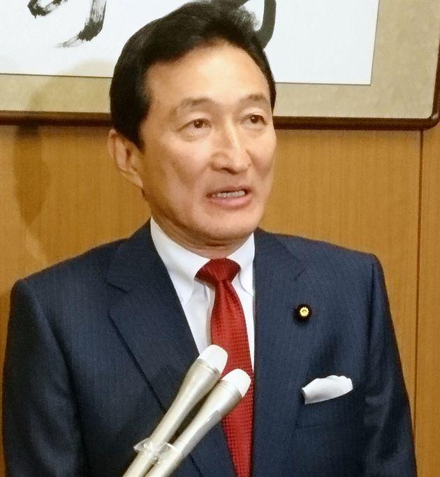 夏の参議院選挙への不出馬を表明した渡邉美樹さん=2019年2月13日、東京・永田町の参院議員会館