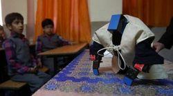 Avez-vous déjà vu un robot qui prie? Maintenant