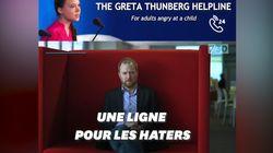 Cette fausse assistance téléphonique pour les anti-Greta Thunberg mériterait