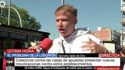 Este joven triunfa con su discurso en Telemadrid sobre las casas de
