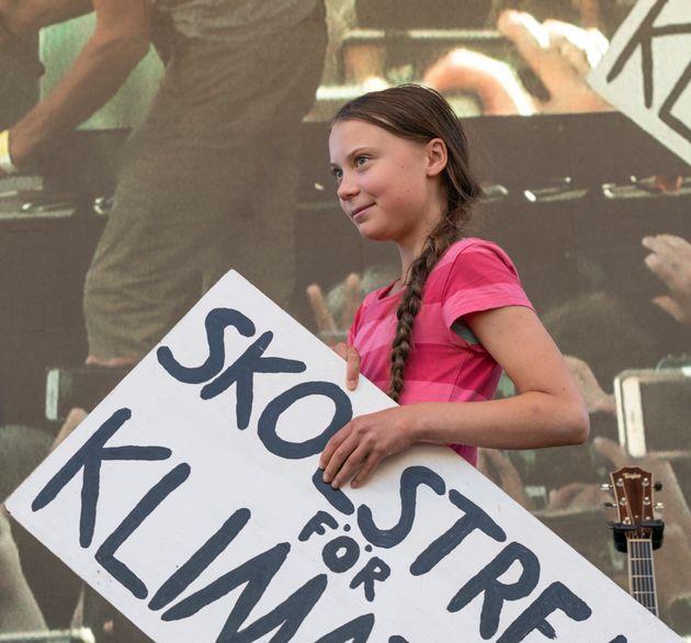 Greta Thunberg, el pasado 20 de septiembre, en el Battery Park de Nueva