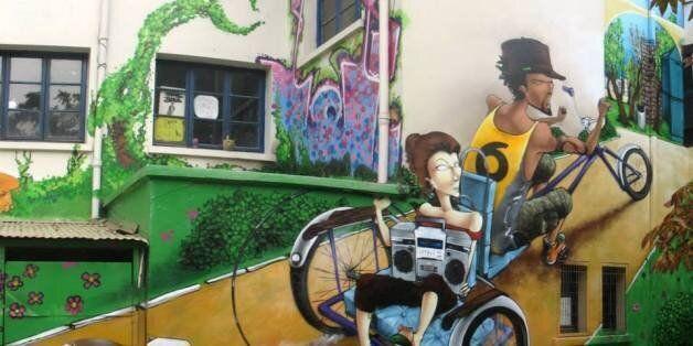 Graffiti de Saile One. Ce graffeur chilien sera présent à