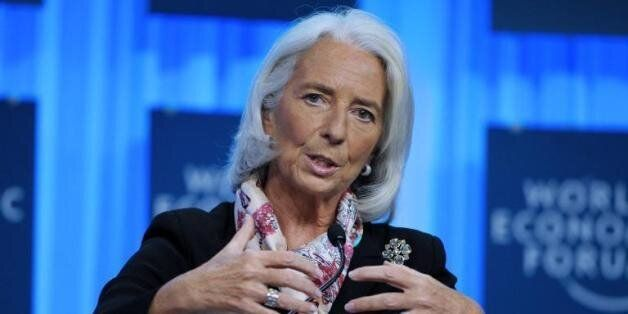 Christine Lagarde, Directrice générale du Fonds Monétaire International (FMI) au Forum de Davos