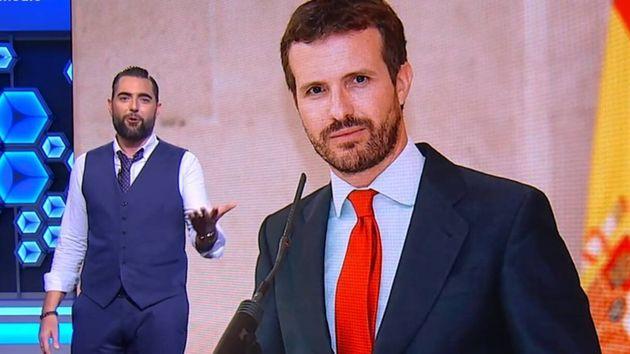 El colaborador de El Intermedio, junto a una imagen de Pablo
