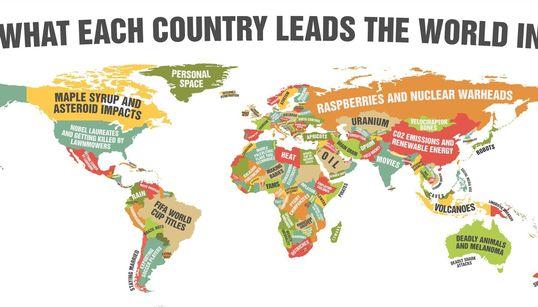 Une carte du monde pas comme les autres: Dans quel domaine se démarque votre