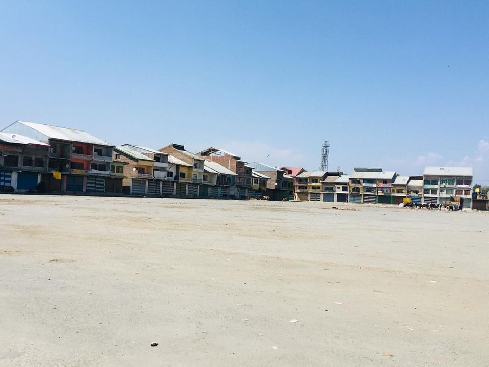 The main vegetable and fruit wholesale market in Srinagar, the summer capital of Jammu and Kashmir, was...