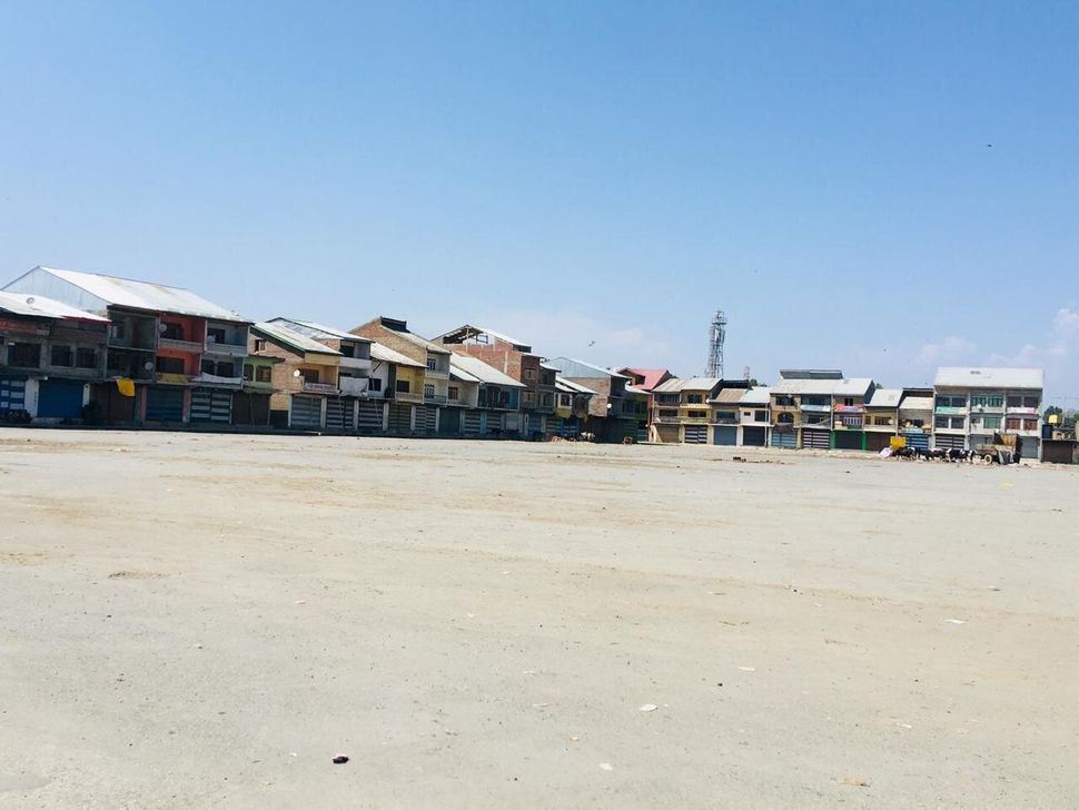 The main vegetable and fruit wholesale market in Srinagar, the summer capital of Jammu and Kashmir, was empty on the afternoo
