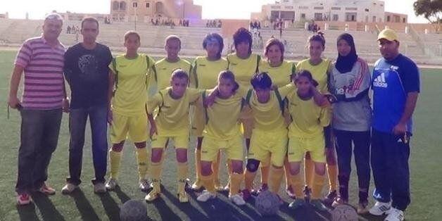 L'équipe de premiere division du championnat tunisien de football féminin l'ASF