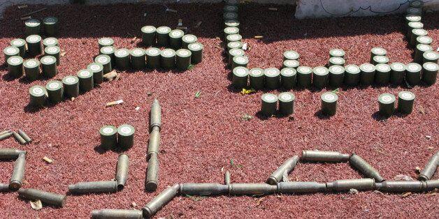 Des militaires libyens gardent un hôpital, Benghazi, 23 septembre