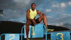 Usain Bolt, seul au