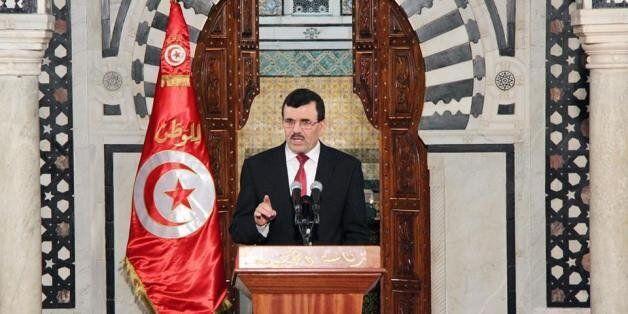 Le chef du gouvernement tunisien, Ali Larayedh, à la Kasbah, siège du Premier