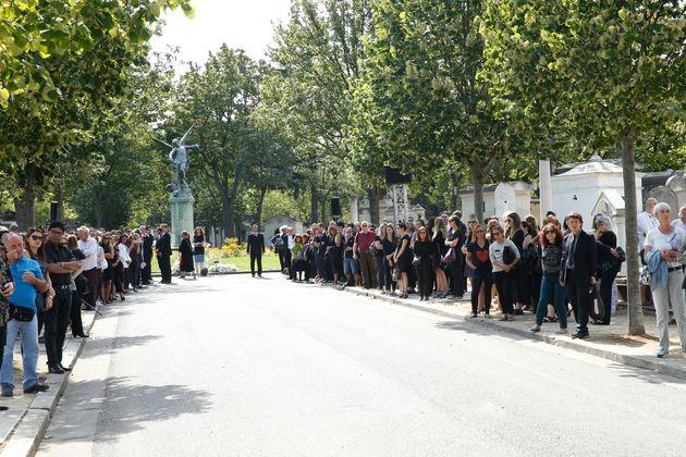 Le cimetière du Montparnasse, ici lors des obsèques de Sonia Rykiel en 2016, va accueillir...