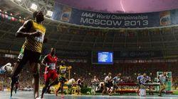 Sous la pluie, Usain Bolt fait parler la
