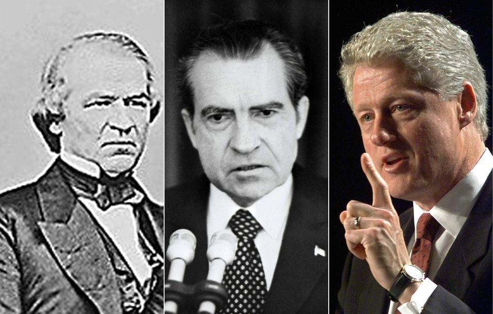 Combo con los tres presidentes sometidos a un